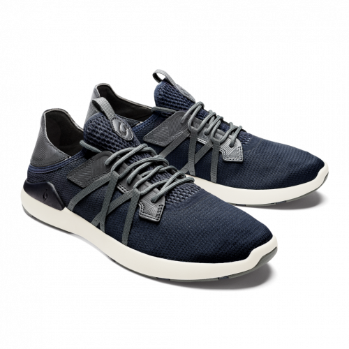 olukai-mio-li-trench-blue-charcoal men's casual shoe available online or in store at assembly88 men's shop in Allentown, PA