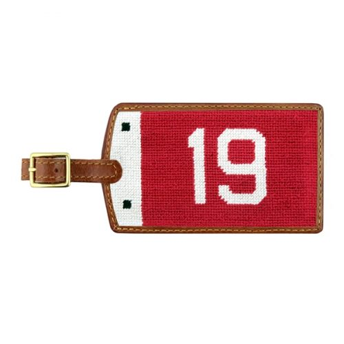 smathers-branson-19th-hole-pin-flag-needlepoint-luggage-tag Available online or in store at assembly88 men's shop in Allentown, PA