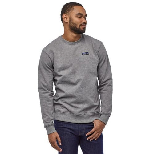 Patagonia P6 Label Uprisal Fleece Crew Gravel Heather