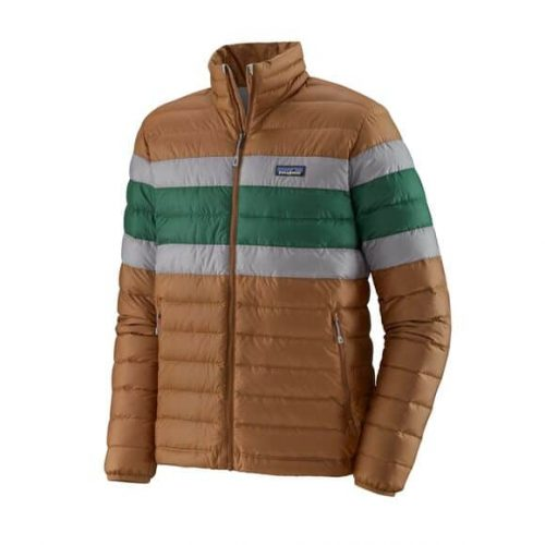 Patagonia Classic Down Sweater Jacket Beech Brown for sale online and at assembly88 men's store in Allentown, PA.