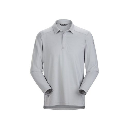 arcteryx-captive-polo-shirt-ls-pixel Available online or in store at assembly88 men's shop in Allentown, PA