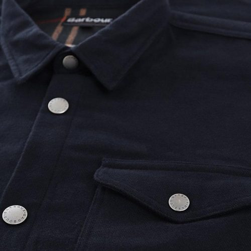 Barbour Carrbridge double- face cotton Overshirt Navy
