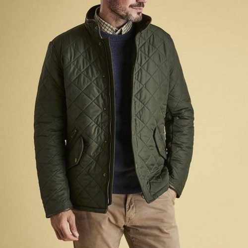 barbour-powell-quilted-jacket-sage-mens-barbour Available online or in store at assembly88 men's shop in Allentown, PA