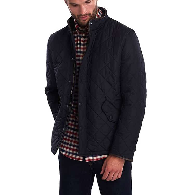 Barbour Powell Quilted Fleece Lined Jacket Navy