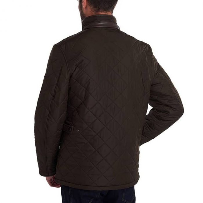 Barbour Powell Quilted Fleece Lined Jacket Olive