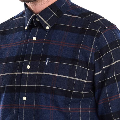 Barbour Lustleigh Shirt Navy Marl Tartan