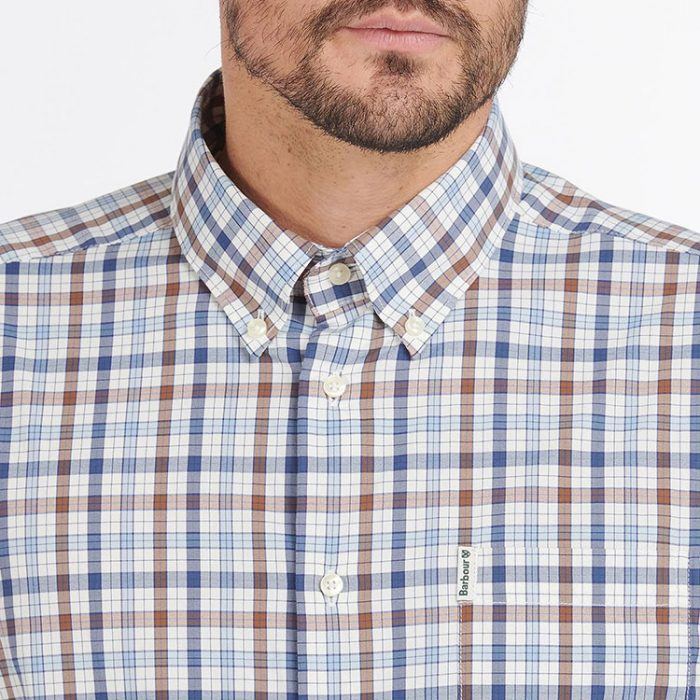 barbour-hallhill-performance-shirt-stone Available online or in store at assembly88 men's shop in Allentown, PA