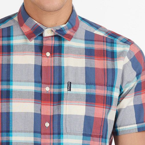 barbour-madras-7-short-sleeved-summer-shirt-blue Available online or in store at assembly88 men's shop in Allentown, PA