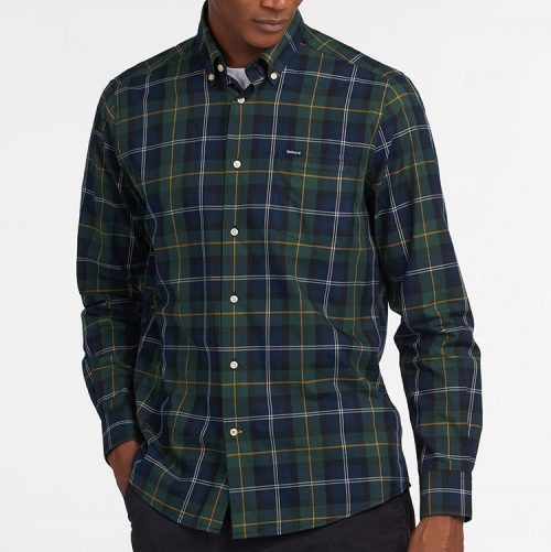 barbour-wetherham-tailored-shirt-seaweed-tartan Available online or in store at assembly88 men's shop in Allentown, PA