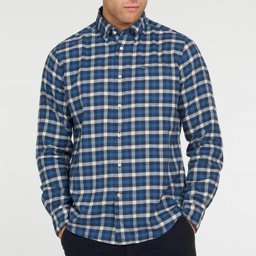 barbour-rotheby-tailored-shirt-navy Available online or in store at assembly88 men's shop located in Allentown, PA