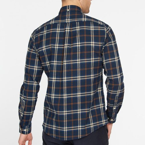 barbour-crossfell-tailored-shirt-blue Available online or in store at assembly88 men's shop in Allentown, PA