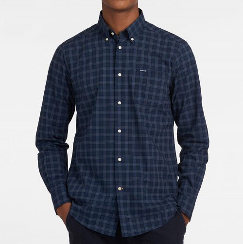 barbour-lomond-tailored-shirt-midnight-tartan Available online or in store at assembly88 men's shop in Allentown, PA