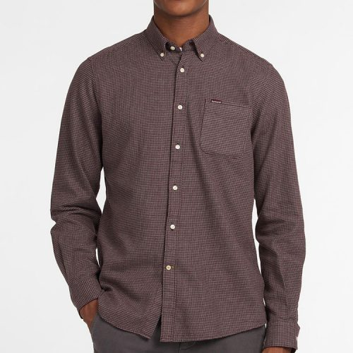 barbour-coalford-tailored-shirt-merlot Available online or in store at assembly88 men's shop in Allentown, PA