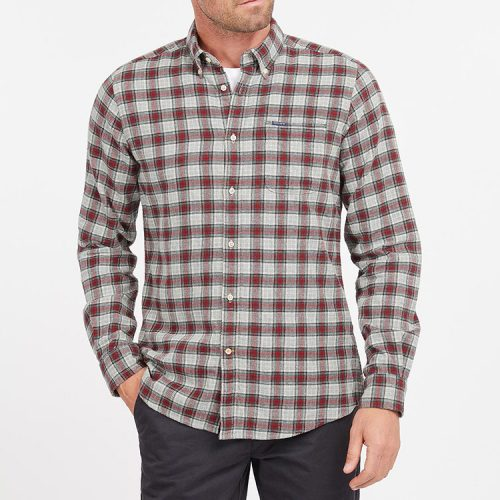 barbour-alderton-tailored-shirt-grey-marl Available online or in store at assembly88 men's shop in Allentown, PA
