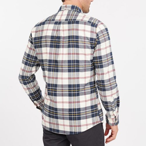 barbour-ronan-tailored-check-ecru Available online or in store at assembly88 men's shop located in Allentown, PA