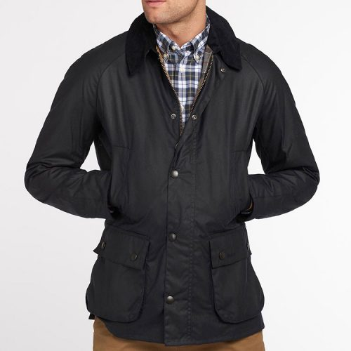 barbour-ashby-wax-jacket-navy Available online or in store at assembly88 men's shop located in Allentown, PA