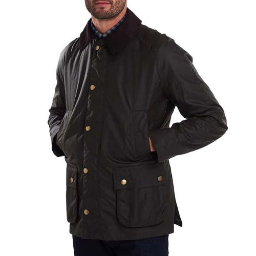 Barbour Ashby Waxed Cotton Jacket Olive