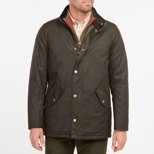 barbour-prestbury-wax-jacket-olive Available online or in store at assembly88 men's shop located in Allentown, PA