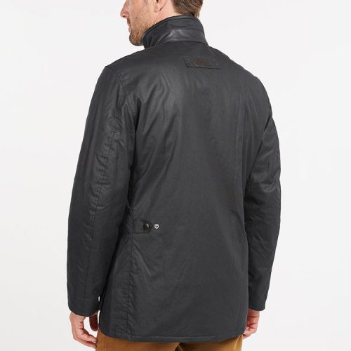 barbour-hereford-wax-jacket-navy Available online or in store at assembly88 men's shop located in Allentown, PA