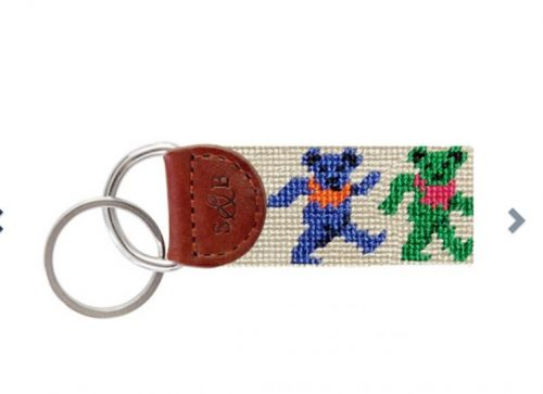 smathers-branson-dancing-bears-oatmeal-needlepoint-key-fob Available online or in store at assembly88 men's shop in Allentown, PA