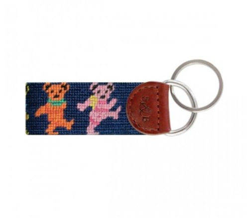 Smathers-Branson-Dancing-Bears-Needlepoint-Key-Fob Available online or in store at assembly88 men's shop in Allentown, PA