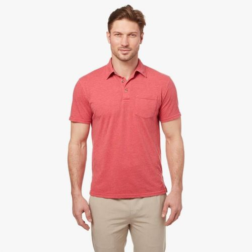 fair-harbor-atlantic-polo-red-men's-polo Available online or in store at assembly88 men's shop in Allentown, PA