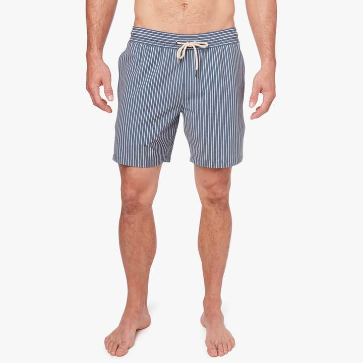 fair-harbor-the-bayberry-trunk-dark-denim-stripe Available online or in store at assembly88 men's shop in Allentown, PA