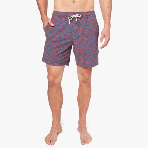 fair-harbor-the-bayberry-trunk-red-mini-floral Available online or in store at assembly88 men's shop in Allentown, PA