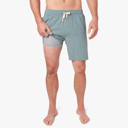 fair-harbor-the-one-short-green-men's-short Available online or in store at assembly88 men's shop in Allentown, PA