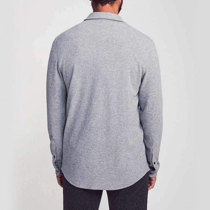 Faherty Legend Sweater Shirt Light Grey for sale