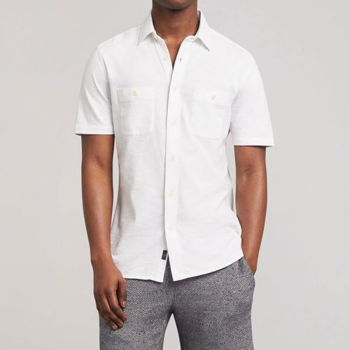 faherty-short-sleeve-knit-seasons-shirt-white Available online or in store at assembly88 men's shop in Allentown, PA