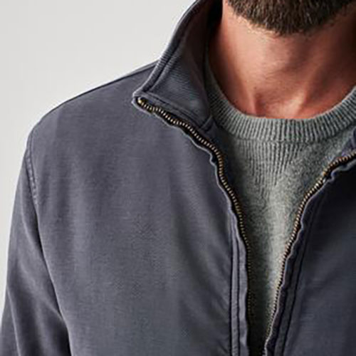 faherty-stretch-terry-tanker-jacket-navy Available online or in store at assembly88 men's shop in Allentown, PA