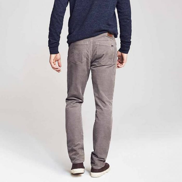 Faherty Stretch Corduroy 5-Pocket Rugged Grey