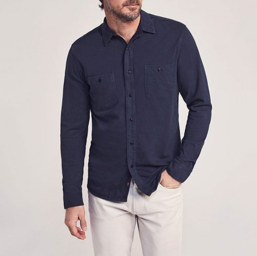 faherty-knit-seasons-shirt-blue-nights Available online or in store at assembly88 men's shop in Allentown, PA