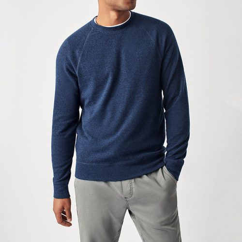faherty-legend-sweater-crew-navy-twill can be found online or in store at assembly88 men's clothing store in Allentown, PA