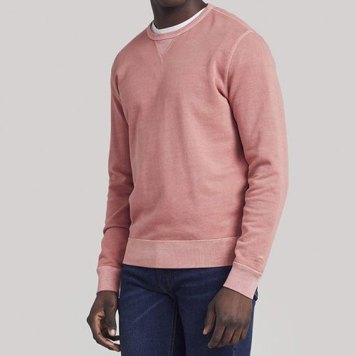 faherty-beach-crew-sweatshirt-weathered-red Available online or in store at assembly88 men's shop in Allentown, PA