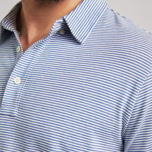 faherty-movement-long-sleeve-polo-madaket-stripe Available online or in store at assembly88 men's shop in Allentown, PA