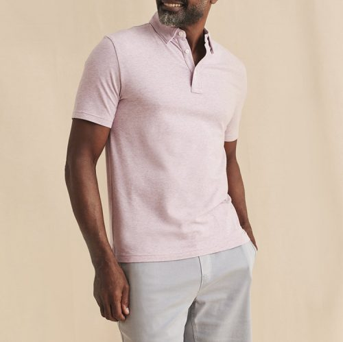faherty-movemen-short-sleeve-polo-lavender-melange Available online or in store at assembly88 men's shop in Allentown, PA