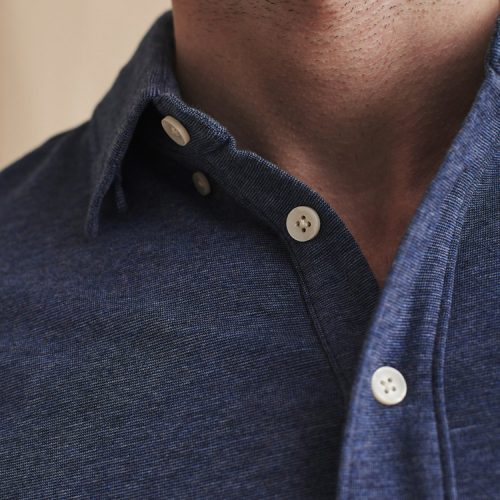 faherty-movement-short-sleeve-polo-sea-navy-melange Available online or in store at assembly88 men's shop in Allentown, PA