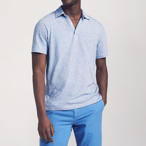faherty-isle-polo-dune-stripe-blue-mens-polo Available online or in store at assembly88 men's shop in Allentown, PA