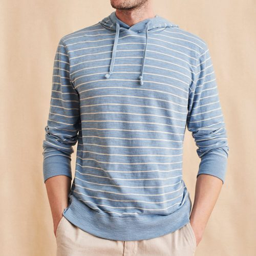 faherty-Slub-Cotton-Hoodie-Dusty-Blue Available online or in store at assembly88 men's shop in Allentown, PA
