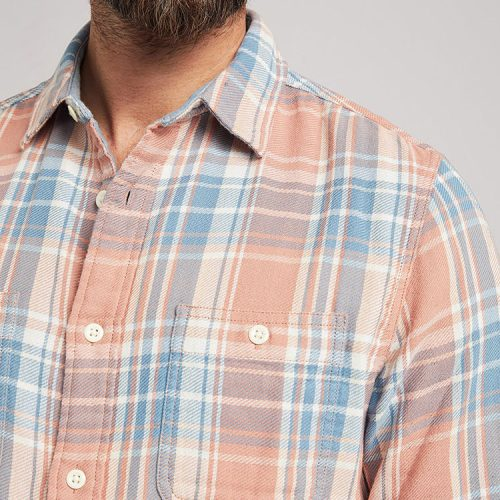 faherty-the-roadtrip-shirt-sunset-plaid Available online or in store at assembly88 men's shop in Allentown, PA