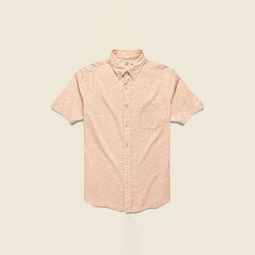 faherty-short-sleeve-playa-shirt-faded-clay Available online or in store at assembly88 men's shop in Allentown, PA