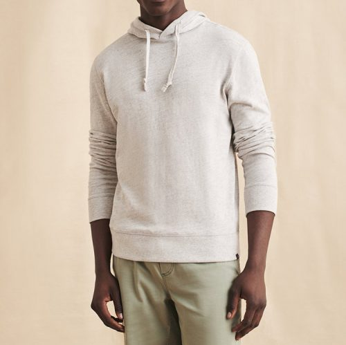 faherty-slub-cotton-hoodie-light-grey-heather Available online or in store at assembly88 men's shop in Allentown, PA