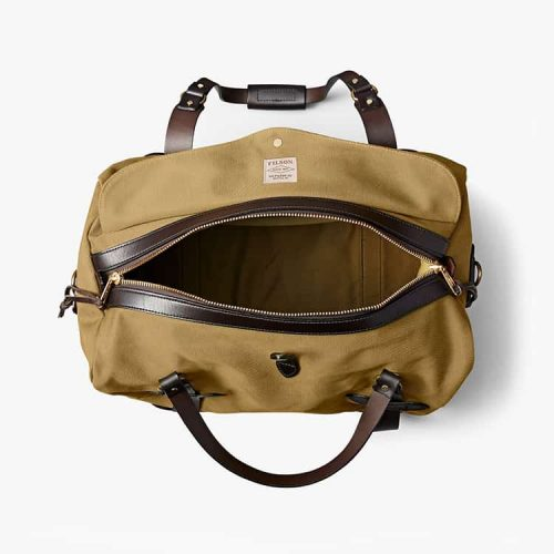 Filson Medium Rugged Twill Duffle Bag Tan