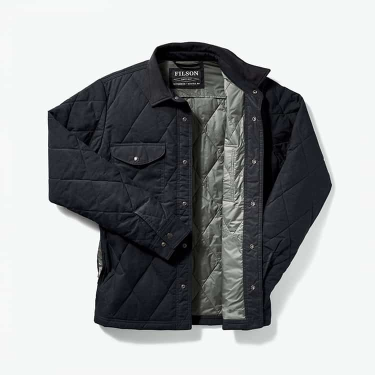 Filson Hyder Quilted Jac-Shirt Faded Navy