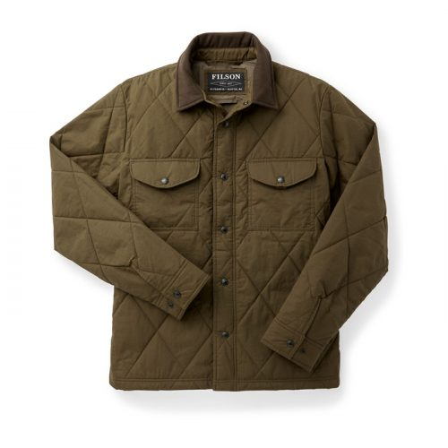 Filson Hyder Quilted Jac-Shirt Marsh Olive Available online or in store at assembly88 men's shop in Allentown, PA