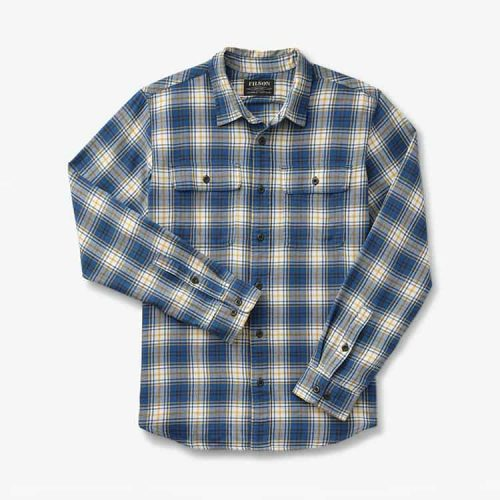 Filson Scout Shirt Blue/Gold/White Plaid