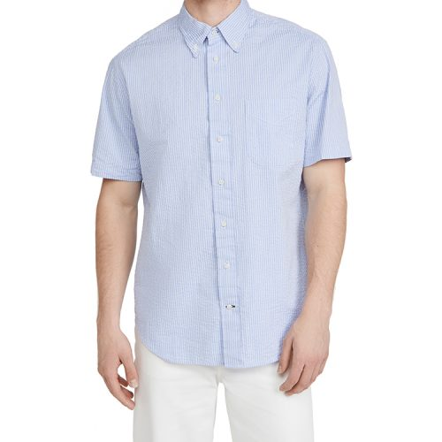 gitman-vintage-tonal-seersucker-shirt-blue Available online or in store at assembly88 men's shop in Allentown, PA