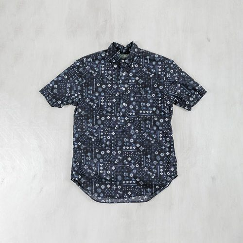 gitman-vintage-indigo-bandana-camp-collar-shirt-blue Available online or in store at assembly88 men's shop in Allentown, PA